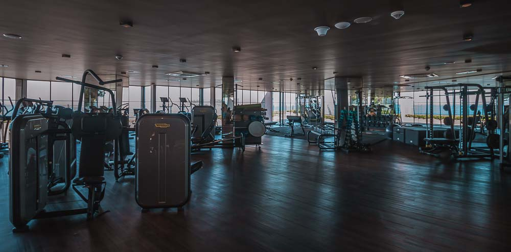 Fitnessraum im Club Marvy in Özdere